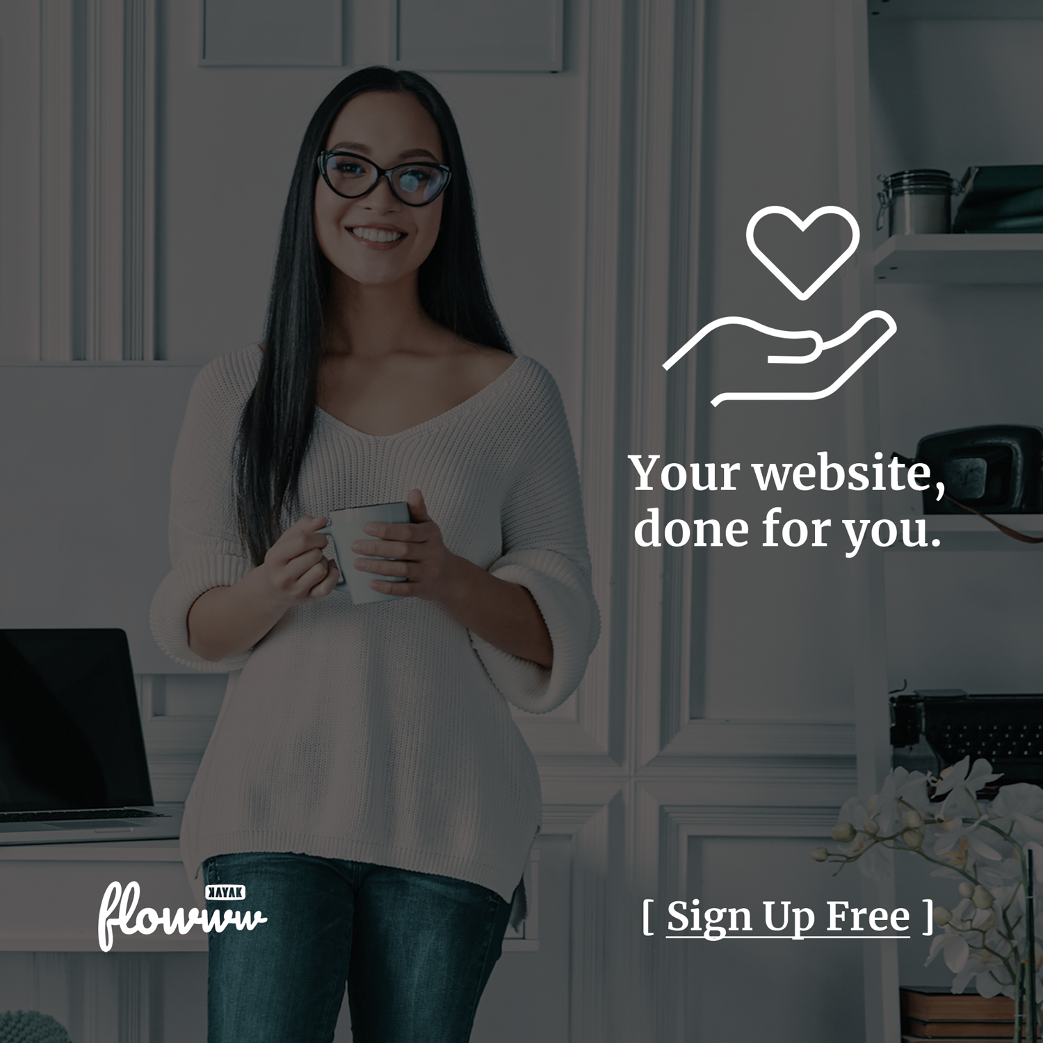 your website, done for you. sign up free.