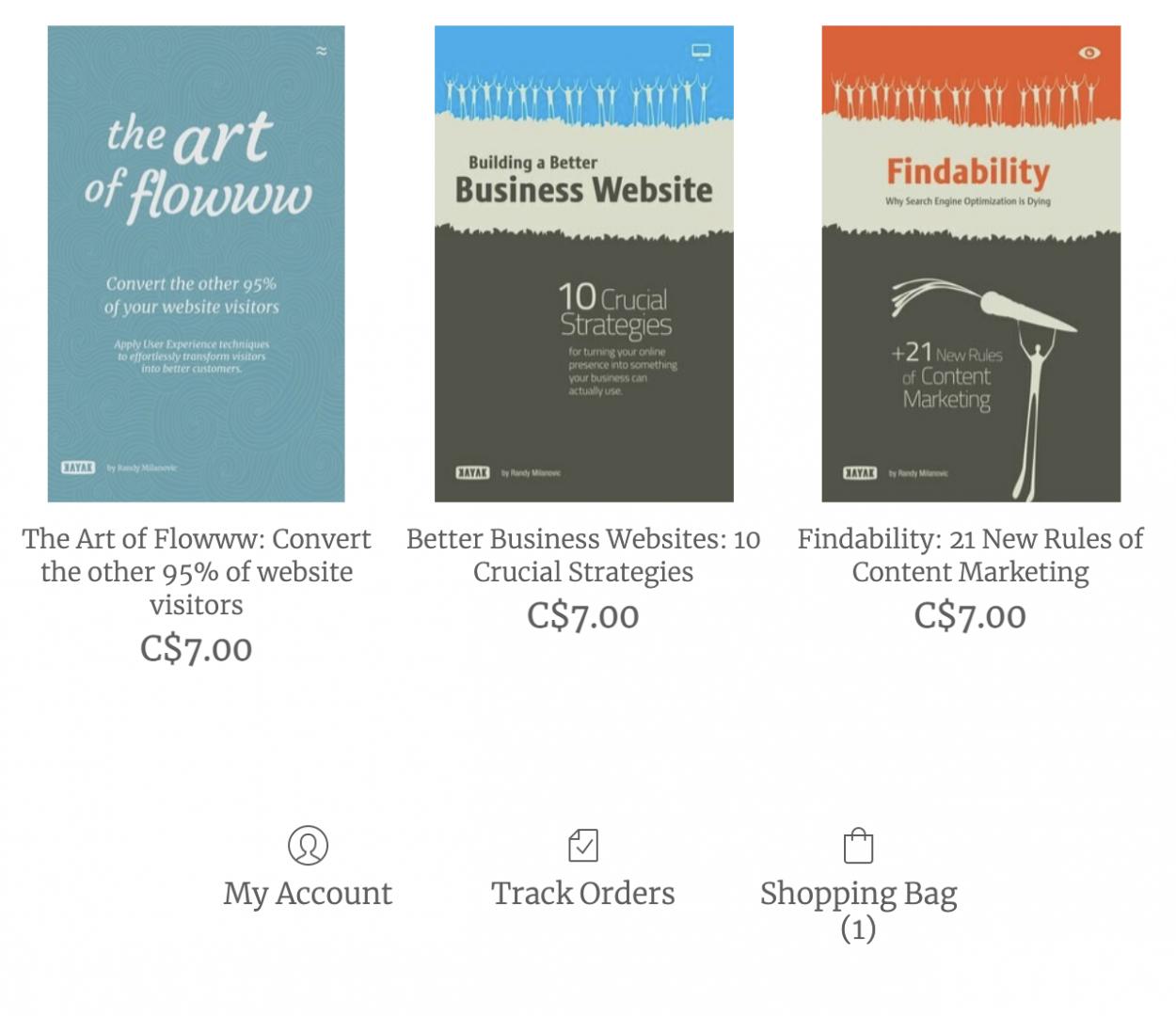 siteshop online store screenshot